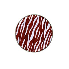 Skin3 White Marble & Red Wood Hat Clip Ball Marker (4 Pack) by trendistuff