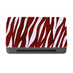 Skin3 White Marble & Red Wood Memory Card Reader With Cf by trendistuff
