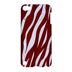 Skin3 White Marble & Red Wood Apple Ipod Touch 5 Hardshell Case by trendistuff