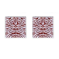 Skin2 White Marble & Red Wood (r) Cufflinks (square) by trendistuff
