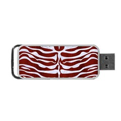 Skin2 White Marble & Red Wood Portable Usb Flash (two Sides) by trendistuff