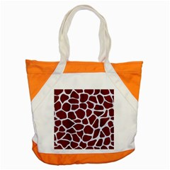 Skin1 White Marble & Red Wood (r) Accent Tote Bag by trendistuff