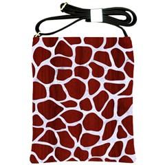 Skin1 White Marble & Red Wood (r) Shoulder Sling Bags by trendistuff