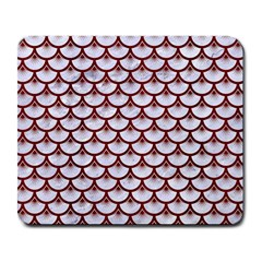 Scales3 White Marble & Red Wood (r) Large Mousepads by trendistuff