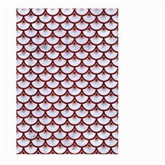 Scales3 White Marble & Red Wood (r) Large Garden Flag (two Sides) by trendistuff