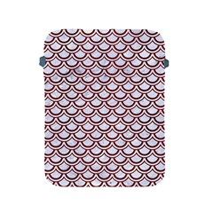 Scales2 White Marble & Red Wood (r)scales2 White Marble & Red Wood (r) Apple Ipad 2/3/4 Protective Soft Cases by trendistuff
