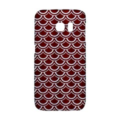 Scales2 White Marble & Red Wood Galaxy S6 Edge by trendistuff