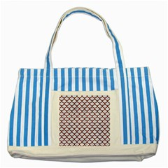 Scales1 White Marble & Red Wood (r) Striped Blue Tote Bag by trendistuff