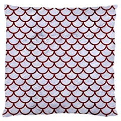 Scales1 White Marble & Red Wood (r) Large Flano Cushion Case (two Sides) by trendistuff