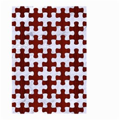 Puzzle1 White Marble & Red Wood Small Garden Flag (two Sides) by trendistuff