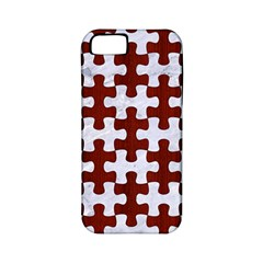 Puzzle1 White Marble & Red Wood Apple Iphone 5 Classic Hardshell Case (pc+silicone) by trendistuff