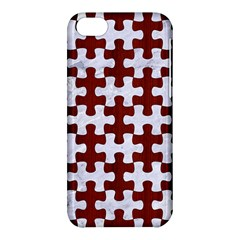 Puzzle1 White Marble & Red Wood Apple Iphone 5c Hardshell Case by trendistuff