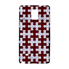Puzzle1 White Marble & Red Wood Samsung Galaxy Note 4 Hardshell Case by trendistuff