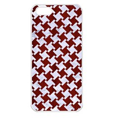 Houndstooth2 White Marble & Red Wood Apple Iphone 5 Seamless Case (white)