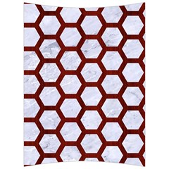 Hexagon2 White Marble & Red Wood (r) Back Support Cushion by trendistuff