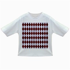 Diamond1 White Marble & Red Wood Infant/toddler T Shirts