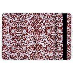 Damask2 White Marble & Red Wood (r) Ipad Air 2 Flip