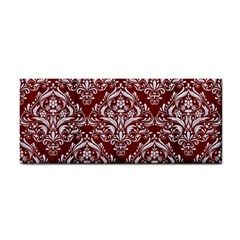 Damask1 White Marble & Red Wood Cosmetic Storage Cases by trendistuff