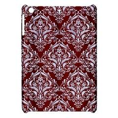 Damask1 White Marble & Red Wood Apple Ipad Mini Hardshell Case by trendistuff