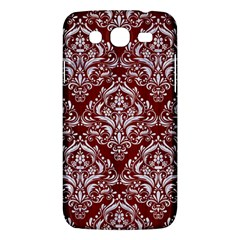 Damask1 White Marble & Red Wood Samsung Galaxy Mega 5 8 I9152 Hardshell Case  by trendistuff
