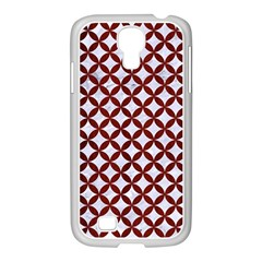 Circles3 White Marble & Red Wood (r) Samsung Galaxy S4 I9500/ I9505 Case (white) by trendistuff