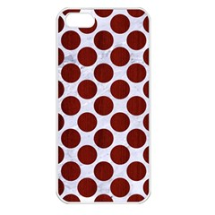 Circles2 White Marble & Red Wood (r) Apple Iphone 5 Seamless Case (white)