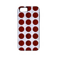 Circles1 White Marble & Red Wood (r) Apple Iphone 5 Classic Hardshell Case (pc+silicone) by trendistuff