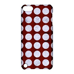 Circles1 White Marble & Red Wood Apple Ipod Touch 5 Hardshell Case With Stand by trendistuff