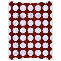 Circles1 White Marble & Red Wood Back Support Cushion by trendistuff