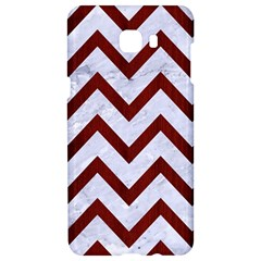 Chevron9 White Marble & Red Wood (r) Samsung C9 Pro Hardshell Case  by trendistuff