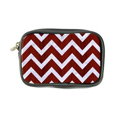 Chevron9 White Marble & Red Wood Coin Purse by trendistuff