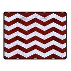 Chevron3 White Marble & Red Wood Fleece Blanket (small) by trendistuff