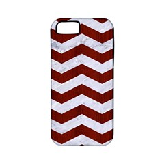 Chevron3 White Marble & Red Wood Apple Iphone 5 Classic Hardshell Case (pc+silicone) by trendistuff