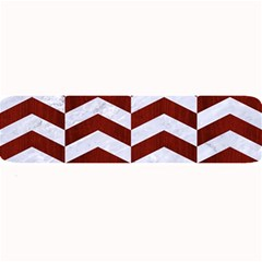 Chevron2 White Marble & Red Wood Large Bar Mats by trendistuff