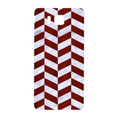 Chevron1 White Marble & Red Wood Samsung Galaxy Alpha Hardshell Back Case by trendistuff
