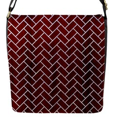 Brick2 White Marble & Red Wood Flap Messenger Bag (s) by trendistuff
