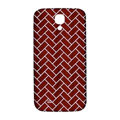 Brick2 White Marble & Red Wood Samsung Galaxy S4 I9500/i9505  Hardshell Back Case by trendistuff