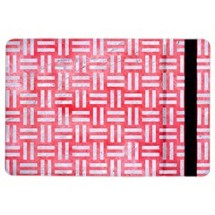 Woven1 White Marble & Red Watercolor Ipad Air 2 Flip