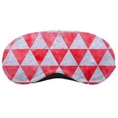 Triangle3 White Marble & Red Watercolor Sleeping Masks by trendistuff