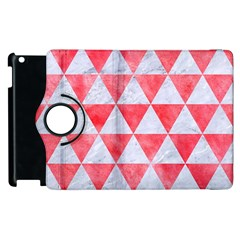 Triangle3 White Marble & Red Watercolor Apple Ipad 2 Flip 360 Case by trendistuff