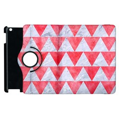 Triangle2 White Marble & Red Watercolor Apple Ipad 2 Flip 360 Case by trendistuff