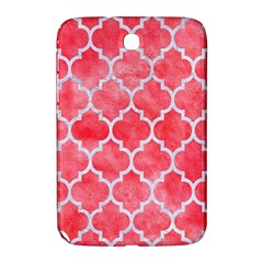 Tile1 White Marble & Red Watercolor Samsung Galaxy Note 8 0 N5100 Hardshell Case  by trendistuff