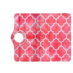 Tile1 White Marble & Red Watercolor Kindle Fire Hdx 8 9  Flip 360 Case by trendistuff