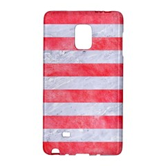 Stripes2white Marble & Red Watercolor Galaxy Note Edge by trendistuff