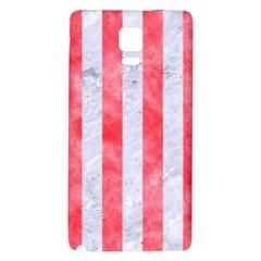 Stripes1 White Marble & Red Watercolor Galaxy Note 4 Back Case by trendistuff