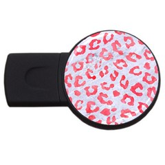 Skin5 White Marble & Red Watercolor Usb Flash Drive Round (4 Gb) by trendistuff