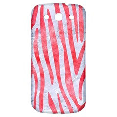 Skin4 White Marble & Red Watercolor Samsung Galaxy S3 S Iii Classic Hardshell Back Case by trendistuff
