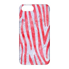 Skin4 White Marble & Red Watercolor Apple Iphone 8 Plus Hardshell Case
