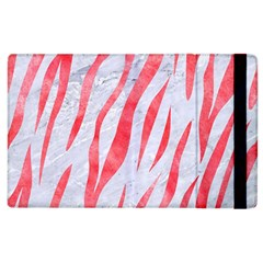 Skin3 White Marble & Red Watercolor (r) Apple Ipad 2 Flip Case by trendistuff