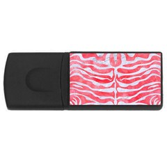 Skin2 White Marble & Red Watercolor Rectangular Usb Flash Drive by trendistuff